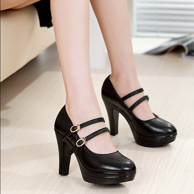 New 2016 spring women genuine leather pumps high-heeled shoes woman platform office lady work shoes small size shoes women pump бп atx 400 вт exegate atx ab400