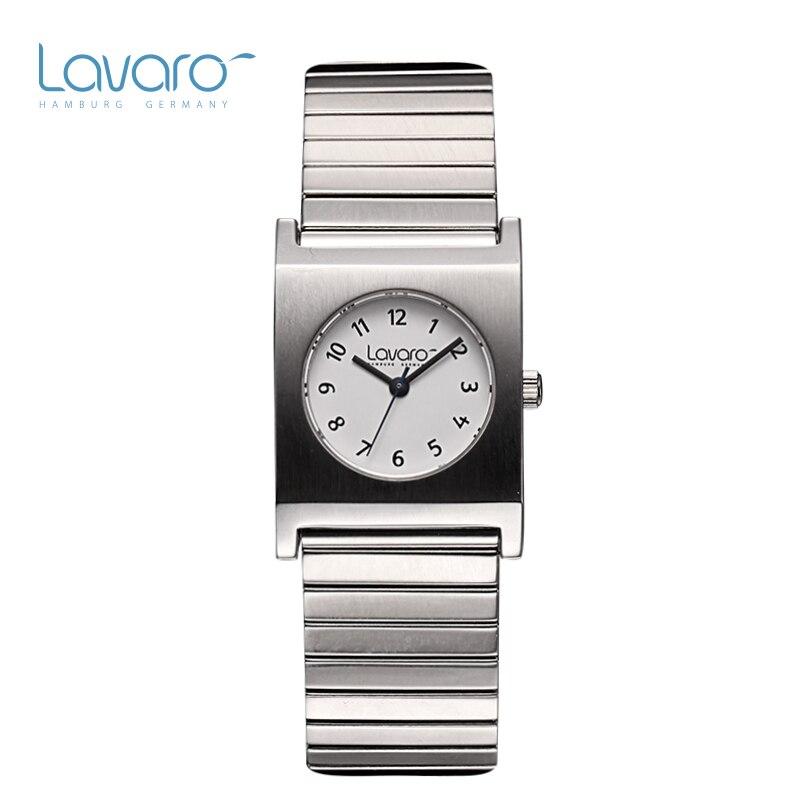 LAVARO font b Women S b font Fashion Quartz Watch With Beige Bangle Bracelet Wristbands Watch