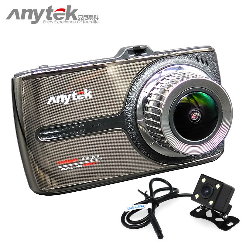 2017 newest anytek g66 car dvr novatek 96655 car camera sony imx323 dual lens 1080P full hd dash cam video recorder registrar