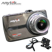 2017 más reciente anytek g66 coche dvr novatek 96655 coches cámara sony imx323 lente dual 1080 P full hd dash cam video recorder registrador