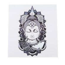 Будда вера Водонепроницаемый татуировки наклейки пот Прочный красивые полосы логотип горячая Распродажа тату Цветок на руку татуировки наклейки