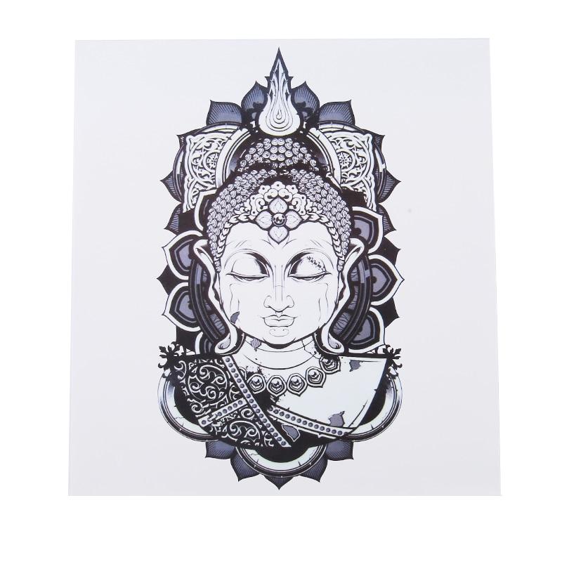Buddha Belief Waterproof Tattoo Stickers Sweat Lasting Beautiful Stripes Logo Hot Sale Flower Arm