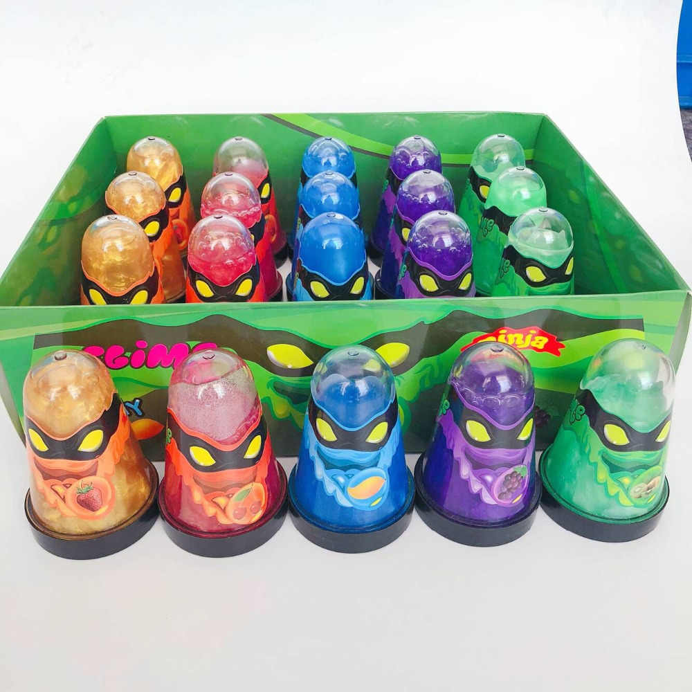 New Monster Ninja Slime Crystal glitter Lizun Mud popular Anti stress toy Colorful Magic Soft Slime Fluffy Modelin Clay Kid Toy