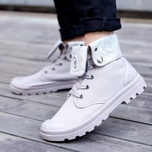 Men Snow Boots 2019 Fashion Canvas Cotton Ankle Boots Autumn Winter Boots Men