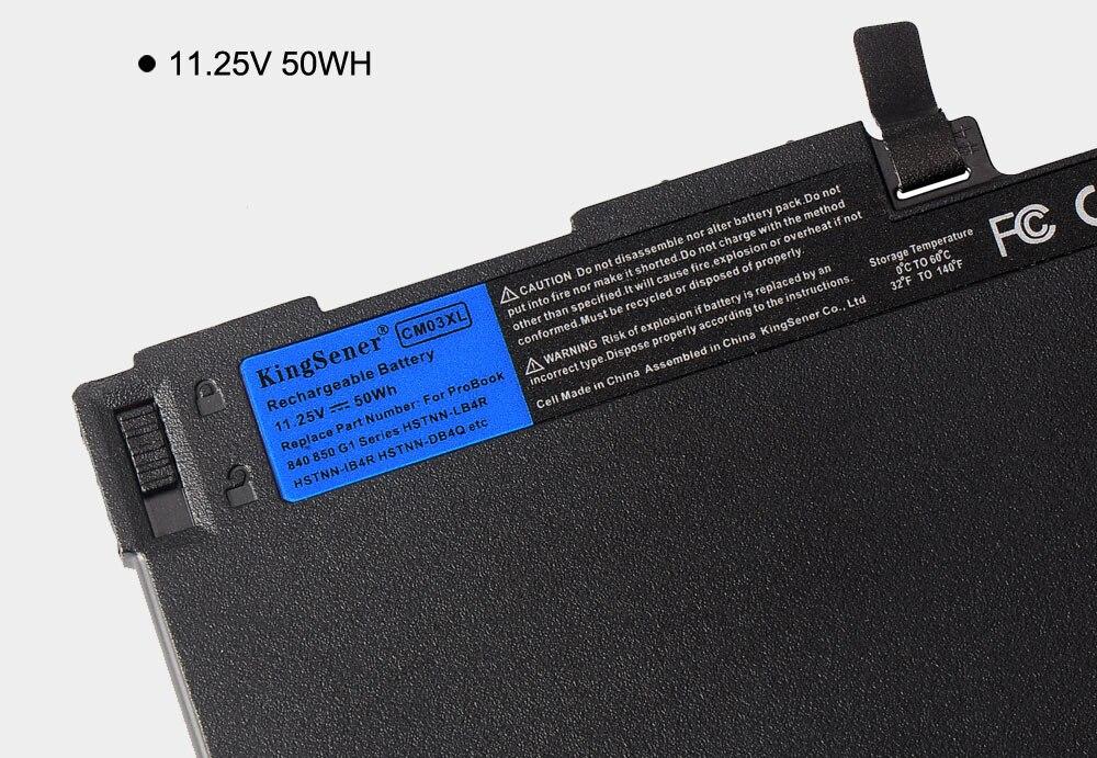 Image 5 - KingSener New CM03XL Laptop Battery for HP EliteBook 740 745 840 850 G1 G2 ZBook 14 HSTNN DB4Q HSTNN IB4R HSTNN LB4R 716724 171-in Laptop Batteries from Computer & Office