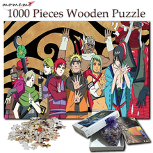 MOMEMO Cartoon Pattern Puzzle for Adults Wooden 1000 Pieces Jigsaw Puzzles Naruto Anime Puzzle 1000 Pieces Toy for Kids Children momemo cartoon london puzzle 1000 pieces jigsaw puzzles for adults wooden high definition 1000 pieces puzzle for children gifts