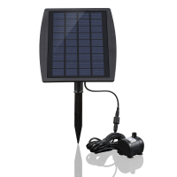 Solar Power Water Pump Brushless Panel Landscape Pool Garden Fountains Pluggable Solar Power Fountain 9V 2.5W Water Pump