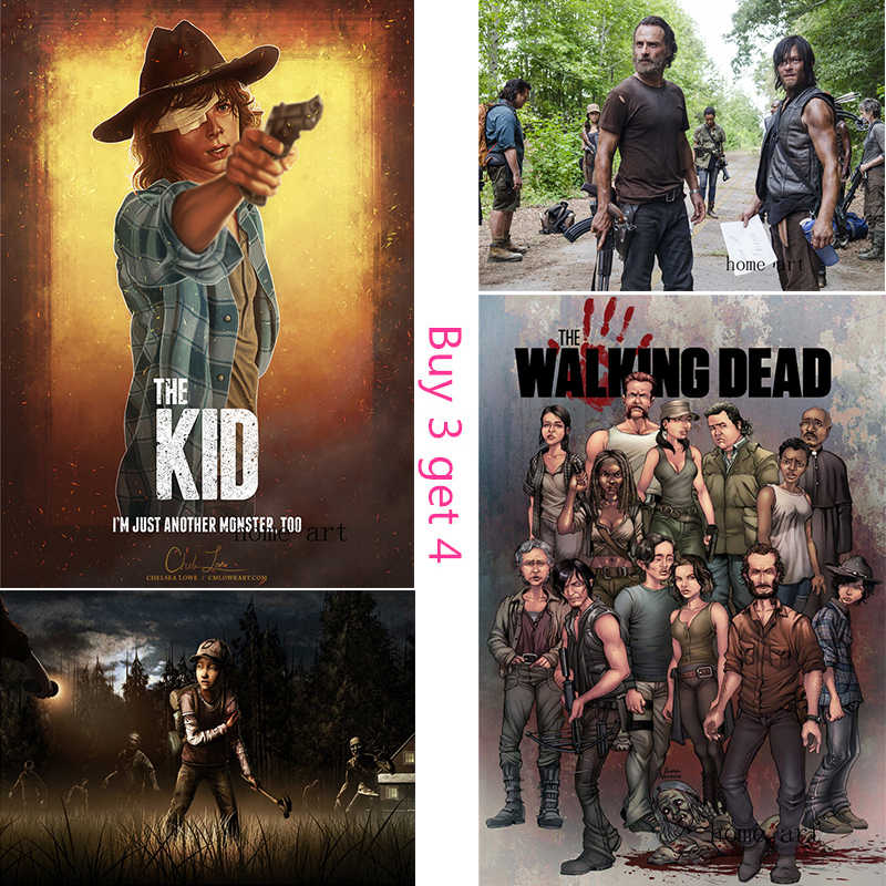 The Walking Dead  Poster Clear Image Wall Stickers Home Decoration Good Quality Prints White Coated Paper D1