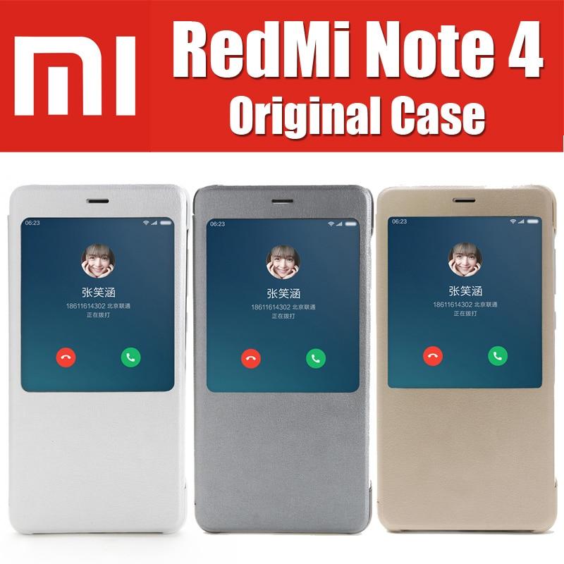 ZCK6050 redmi note 4 case original mi brand smart magnetic leather flip covers for xiaomi redmi
