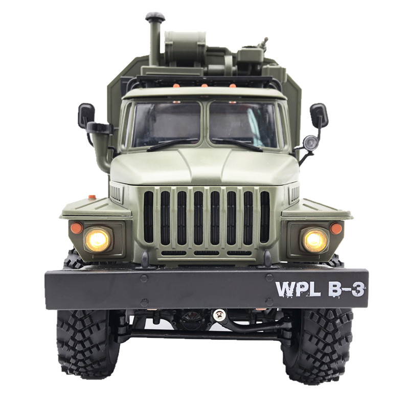 New B36  WPL RC Truck Ural 1/16 2.4G 6WD Remote Control Military Truck Rock Crawler Car Hobby Toys For Boys Christmas Gift Toys
