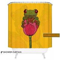 Rubihome Amercian Cartoon Frog Design Shower Bath Curtain For Bathroom 100 Polyester Waterproof 180x180cm
