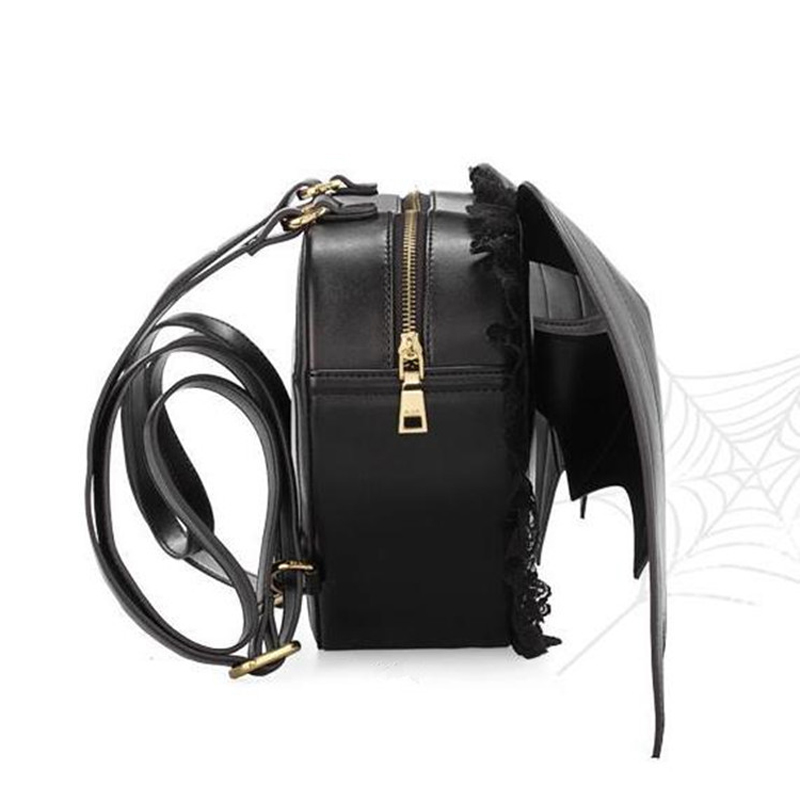 07806a378b1bb Mochilas Mochila Feminina Best Selling Angel Devil Bat Wings Skull Backpack  Gothic Style Dark Punk Knapsack Ladies Personality -in Backpacks from  Luggage ...