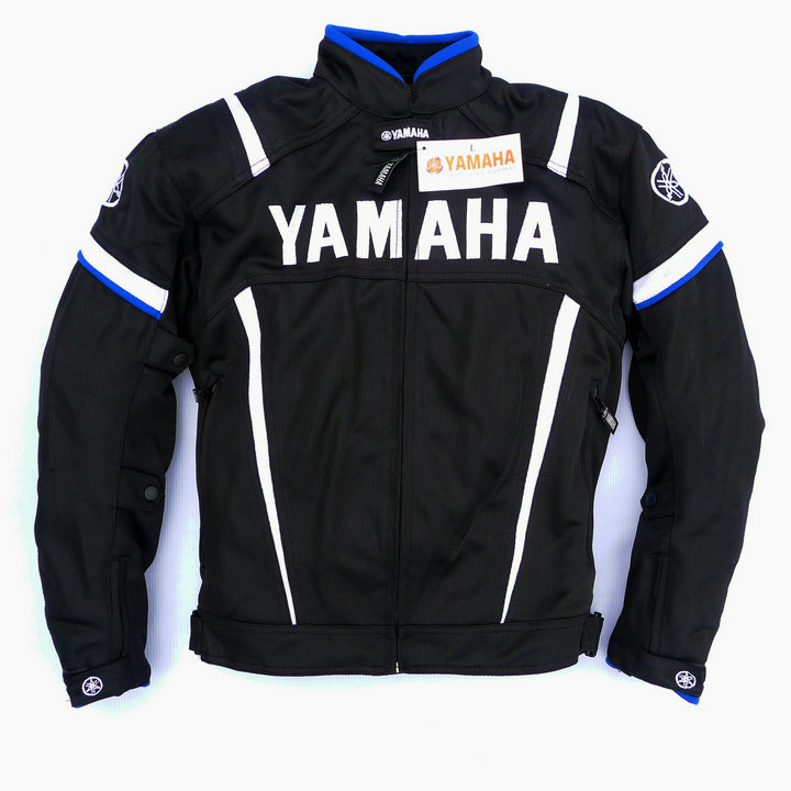 Summer Motorcycle Moto GP Jacket With Protector For YAMAHA M1 Racing Team Motocross Clothing Black Blue moto gp 2018 summer for yamaha jacket winter motorcycle racing pants jackets for men chaqueta suit protector pads motor trousers