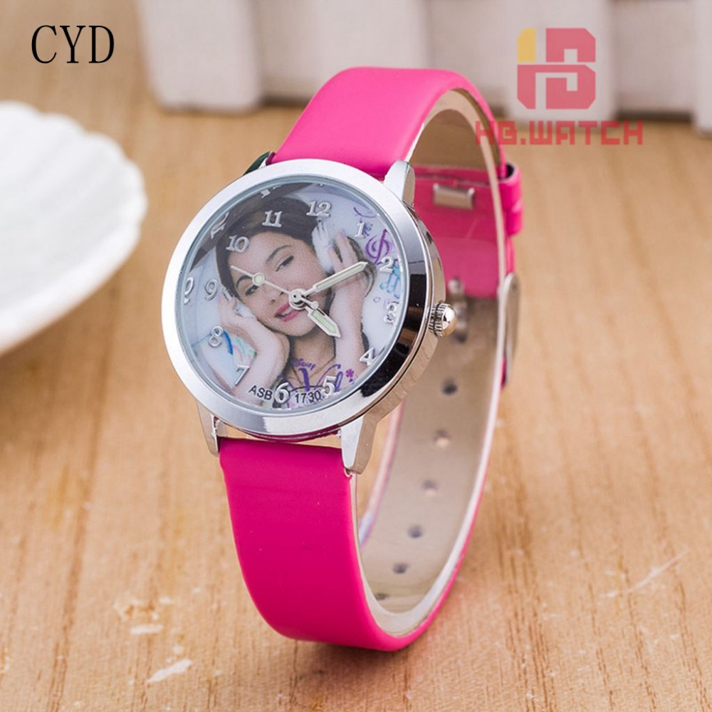 New fashion brand women leather strap watches lovely violetta watch for ladies girl student for Watches brands for girl