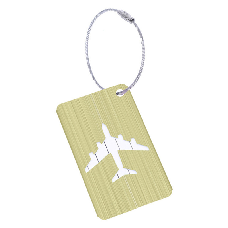 AUAU New Aluminium Travel Luggage Baggage Tag Suitcase Identity Address Name Labels(Green)