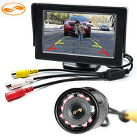 Free Shipping 2 In 1 4.3 Car Rearview TFT LCD Monitor Stand on the Dashboard + 10 IR LEDs Rear Reversing Camera Night Vision