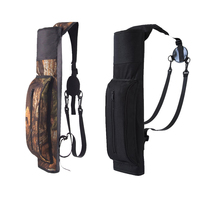 Portable Outdoor Hunt Back Arrow Quiver Archery Bow Arrow Holder Durable PVC Oxford Adjustable Shoulder Bag