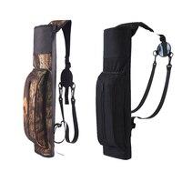 Portable Outdoor Hunt Back Arrow Quiver Archery Bow Arrow Holder Durable PVC Oxford Adjustable Shoulder Bag