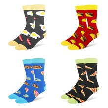 Sports Socks Women Men Food Printed Cotton Spandex Hosiery Footwear For Holiday Working Dating School Socks(China)