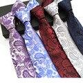 Lazos Para Hombre 8 cm Corbatas Corbatas Hombre 2016 Moda Clásico Tejido Jacquard Seda Lazos para Los Hombres de Negocios de Ropa Formal de La Boda lazos