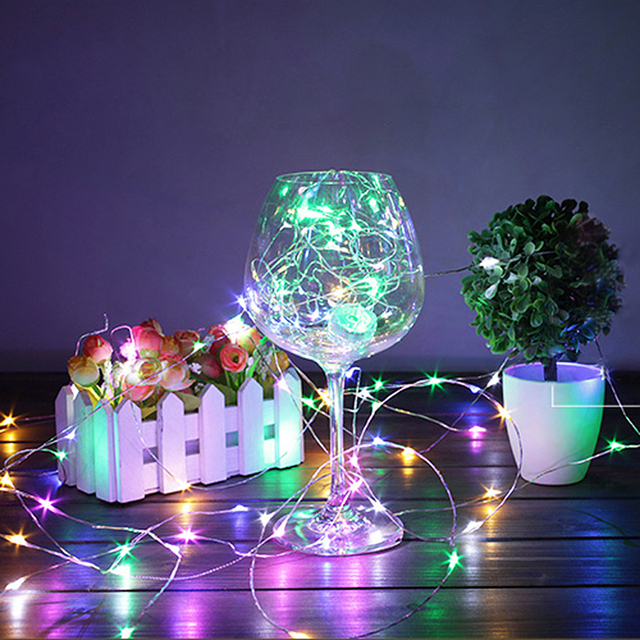 HGhomeart 1M/2M/5M LED Starry String Lights Fairy LEDs Copper Wire ...
