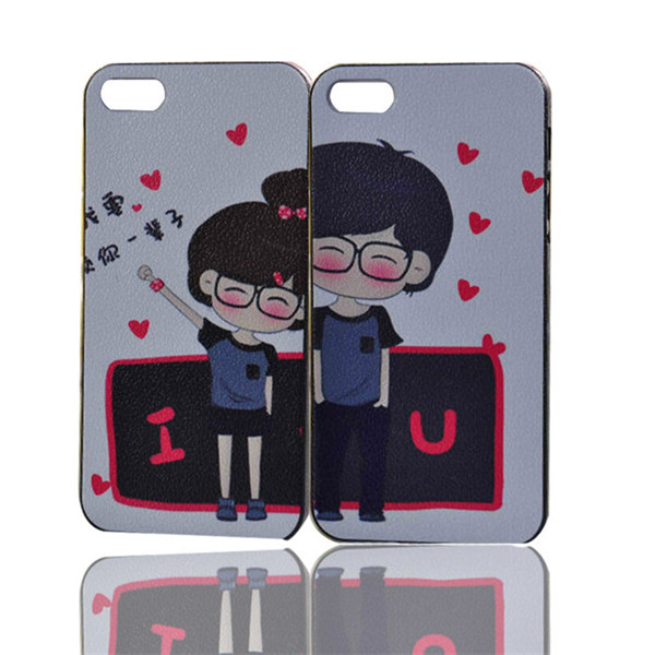 Decoration Mobile PC Phone Case for iPhone 5 5S New Couples/Lovers ...
