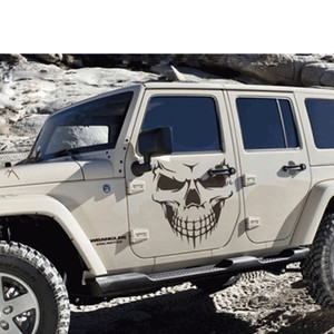 Image 4 - 16CM*18CM Car Stickers JDM 3D Skull Car Window PVC Vinyl Motorcycles Decoration Funny Car Sticker and Decals Car Styling