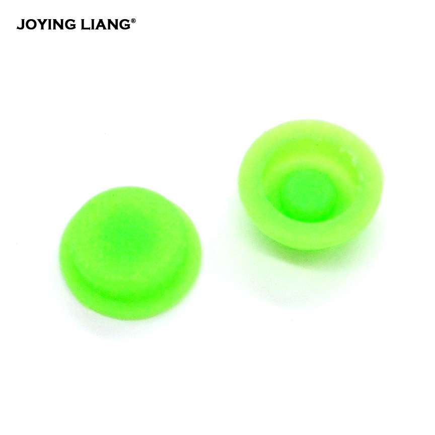 JOYING LIANG Flashlight Green Silica Gel Luminous Button Switch Rubber Switch Caps 2PCS