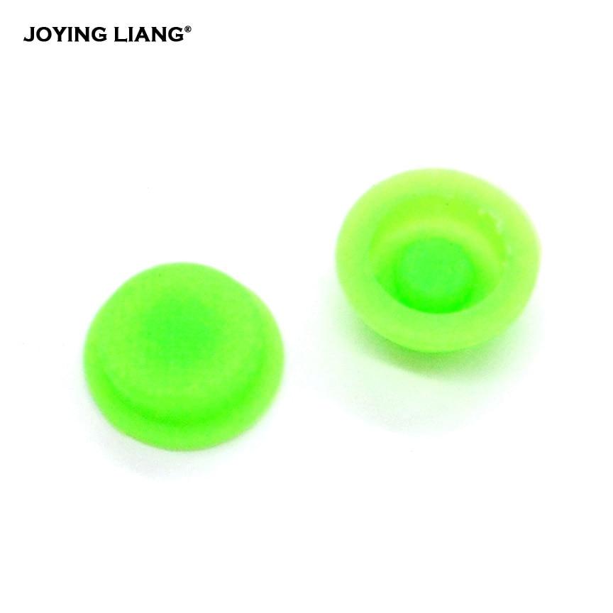 JOYING LIANG Flashlight Green Silica Gel Luminous Button Switch Rubber Switch Caps 2PCS