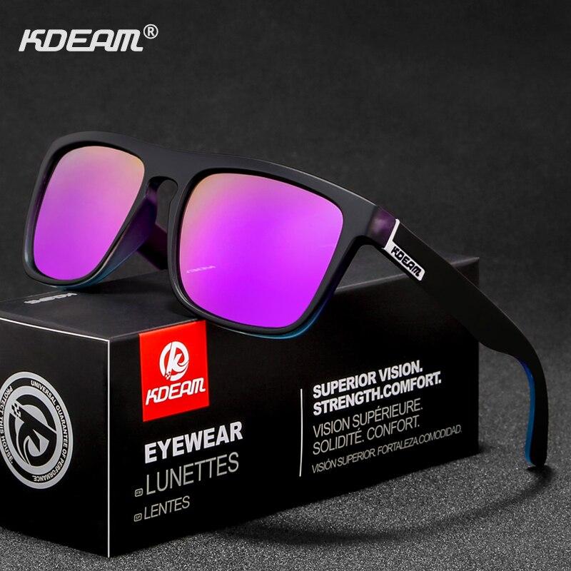 KDEAM Mode Männer Sonnenbrille Polarisierte Plüsch Komfort Sonnenbrille Frauen Beseitigen Rauen Glare Shades oculos KD156-C3