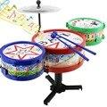 Mini bebé infantil jazz tambor conjunto de rock de música juguetes educativos para niños aprendizaje temprano tambor musical juguete de navidad regalo de navidad k5bo