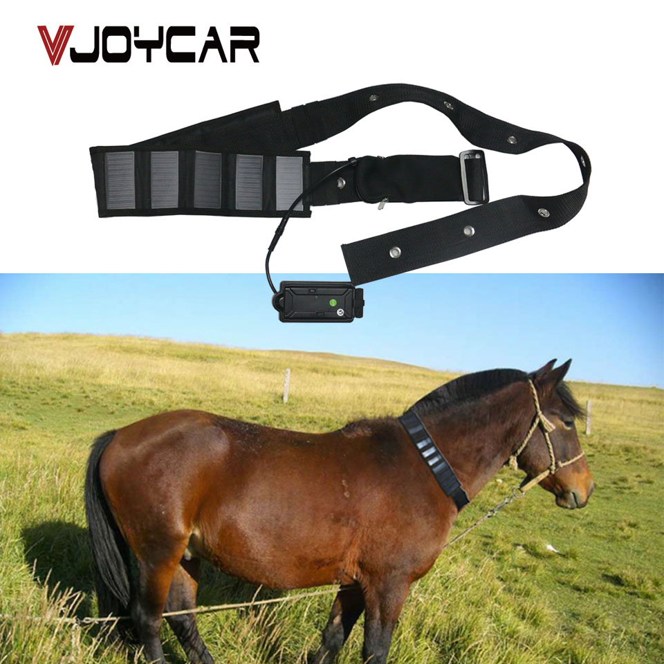 VJOYCAR Solar GPS Tracker Collar Waterproof Real Time gps Locator For Large Pet leather GSM GPS Cow Rastreador Tracking Software mini gps tracker real time waterproof diy pet dog collars gps tracker life time free platform service charge easy to use
