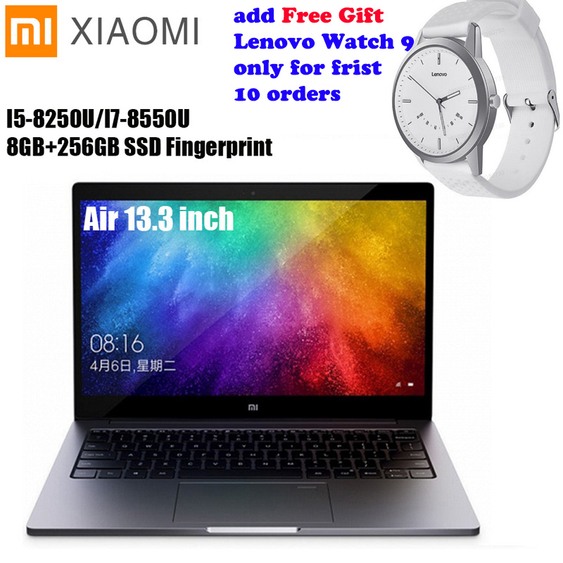 Xiao mi mi Notebook Ar 13.3 Janelas Intel Core I5 10/I7 Quad Core 8 GB + 256 GB impressão Digital Dual WiFi Ultrabook SSD Ga ng mi Laptop