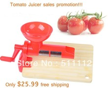 Tomato Juicer,juice exctrator for tomato,Manual Juicer 1pcs/ctn, Red color free shipping