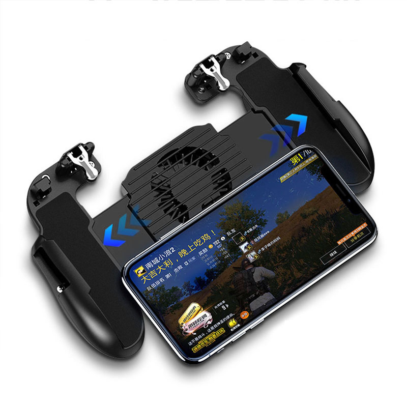 Image 5 - GamePad Pubg Controller Trigger Cooler Cooling Fire PUBG Mobile Game Controller Joystick Metal L1 R1 Trigger for IPhone Android-in Gamepads from Consumer Electronics