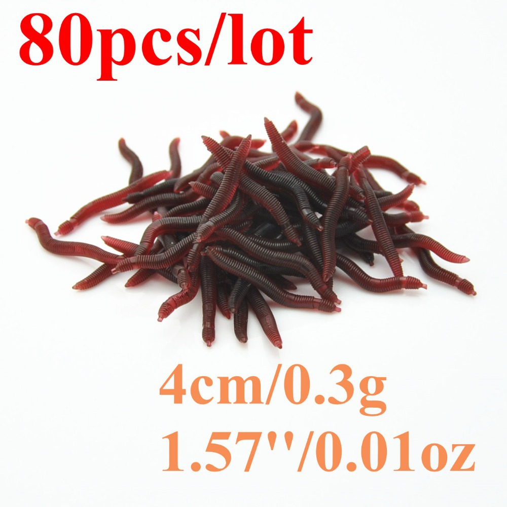 aliexpress com buy promotion red worms 4cm 80pcs soft lure