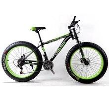 "Mountain bike aluminum frame 21/24 speed Shimano mechanical brakes 26 ""x 4.0 wheels long fork Fat Bike bicycle road bike"