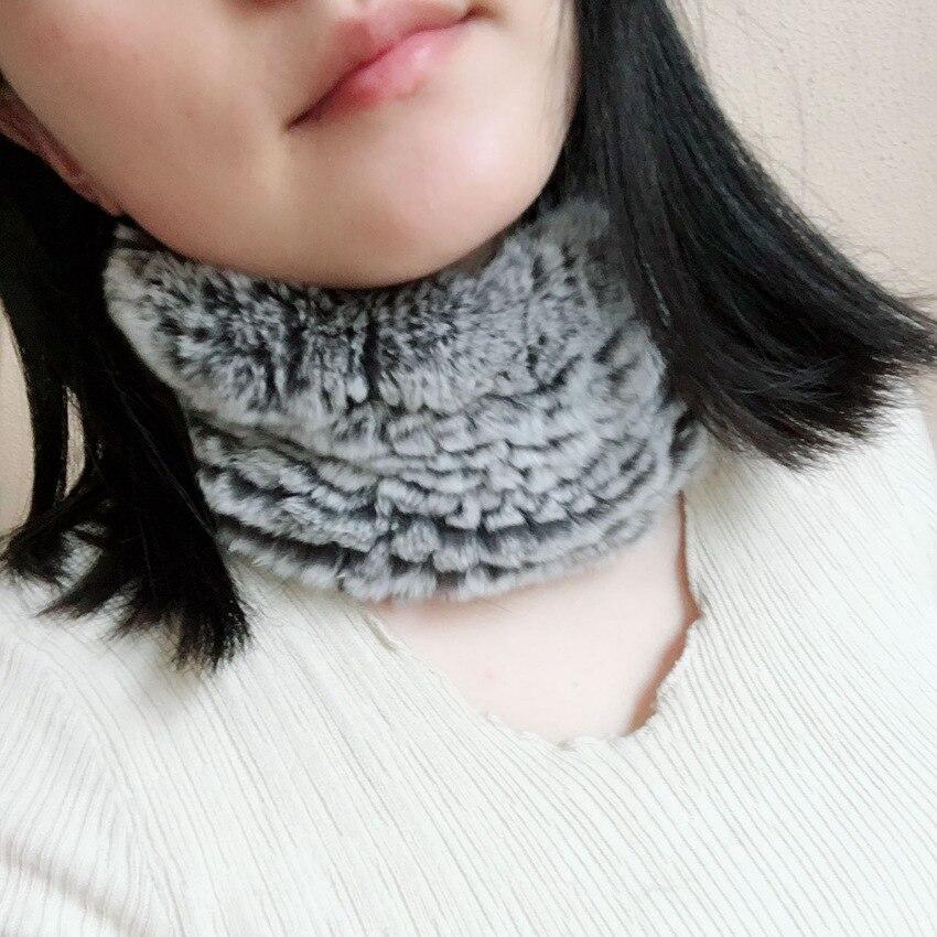 genuine rex rabbit fur scarf neck warmer (3)