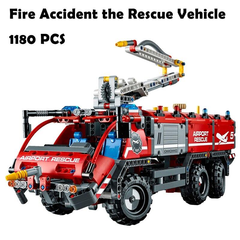 Модель строительные блоки игрушки 20055 город спасательный автомобиль Совместимость с lego Technic серии 42068 развивающие DIY игрушки хобби