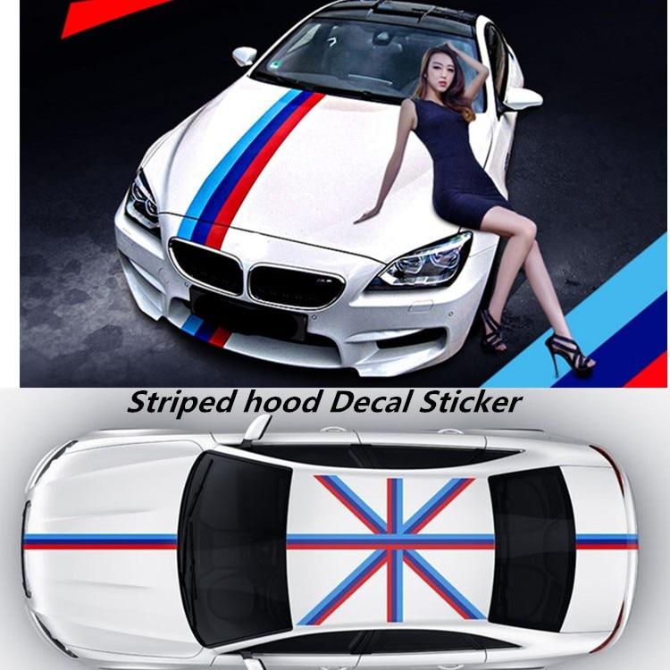 10m 15cm M M Colored Stripe Car Hood Vinyl Sticker Body Decal For Bmw M3 M5 M6 E46 E61 E90