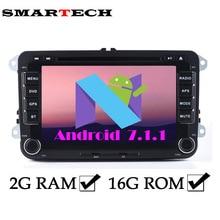 Smartech 2 ГБ Android 7.1 VW RSN510 стерео радио 7 дюймов 2Din автомобильный DVD GPS навигации для EOS Passat b6 Гольф 5 поло Jetta Поло