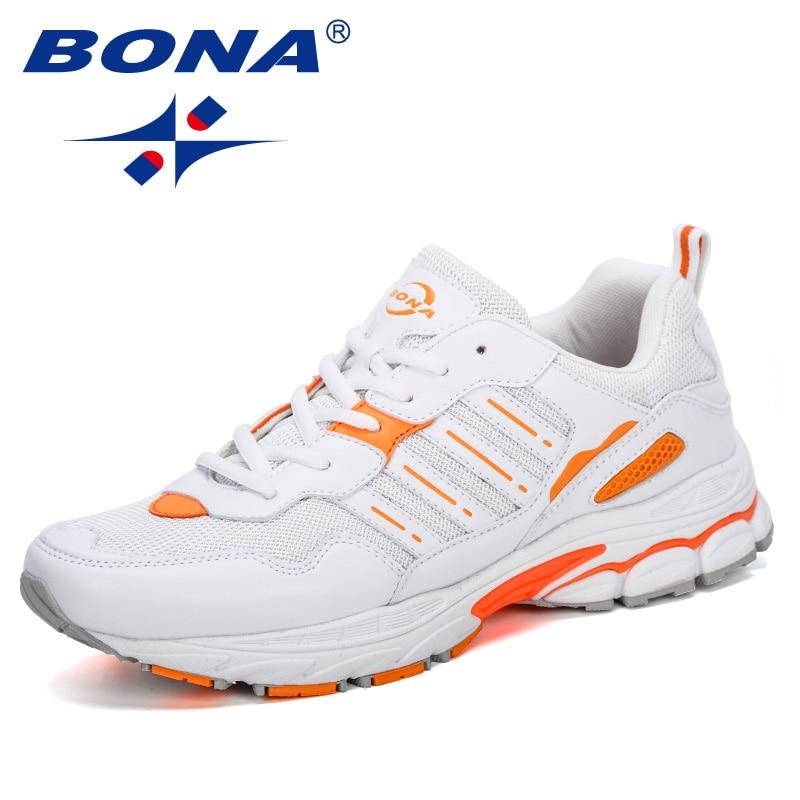 BONA 2019 Men's Running Shoes Outdoor Sport Breathable Trendy Durable Jogging Sneakers Walking Designer Athletic Footwear Comfy