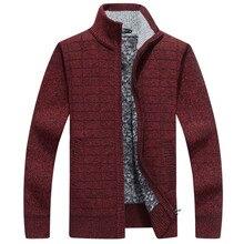 Icpans Cashmere Sweater Men With Zipper Cotton Red Sweater Men Zip Cardigan Masculino 2018 Fleece Warm Thicken Clothes