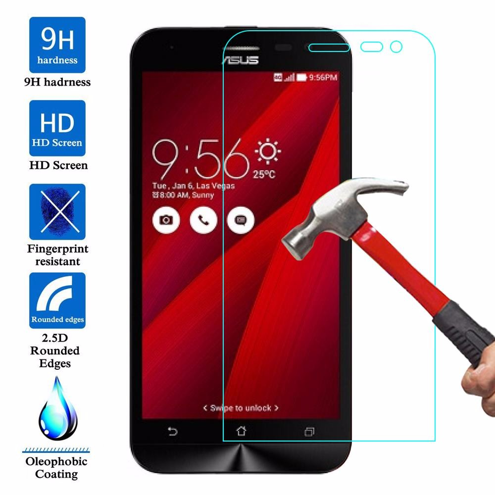 Glass Screen Protector Case For Asus Zenfone GO ZB500KG ZB500KL ZB551KL 2 ZE551ML 5 Zenfone 2 Laser ZE500KL ZE550KL ZB452KG live