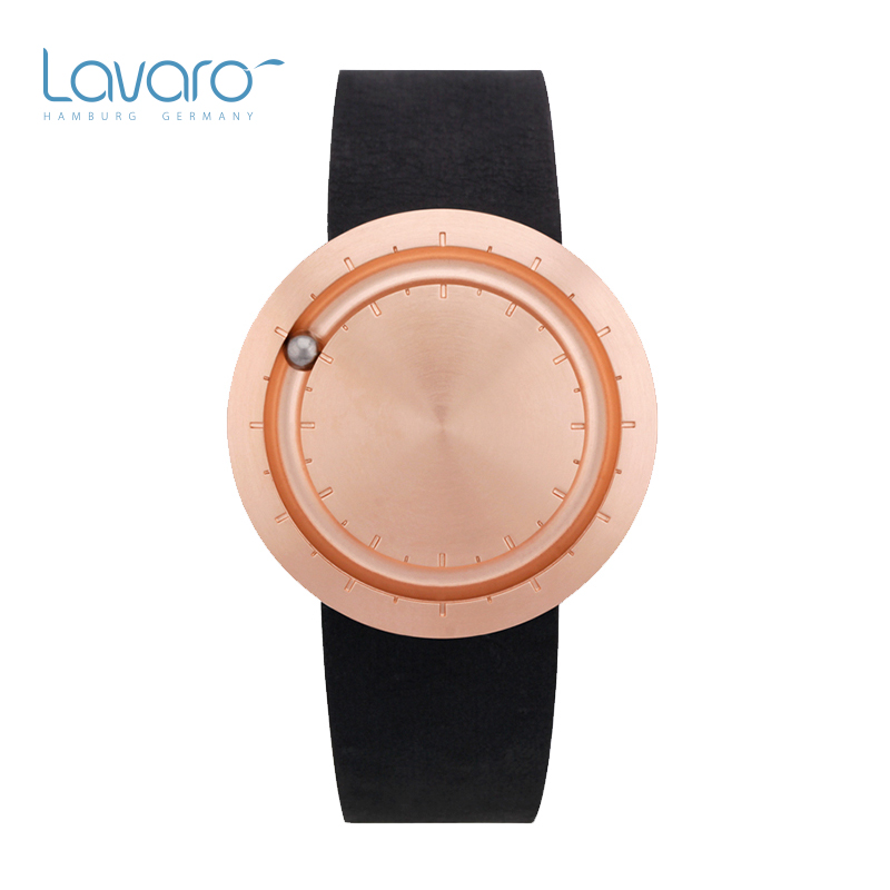 LAVARO Women Dress Watch Ultra Thin Stylish Luxury Rose Gold Stainless Steel Quartz Watches Leather Best Gift For Ladies