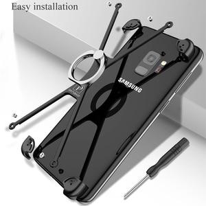 Image 5 - OATSBASF X forme anneau porte étui pour Samsung Galaxy note8 personnalité coque en métal pare chocs étui anneau