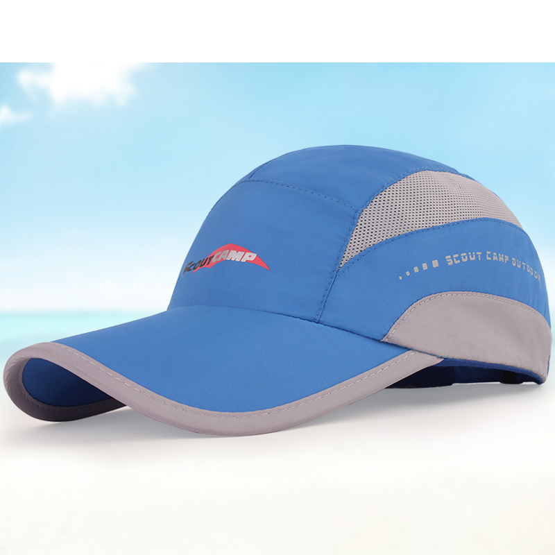 Mesh breathable baseball cap fashion outdoor sports fishing golf sun hat cap thin cotton quick dry men and women visor