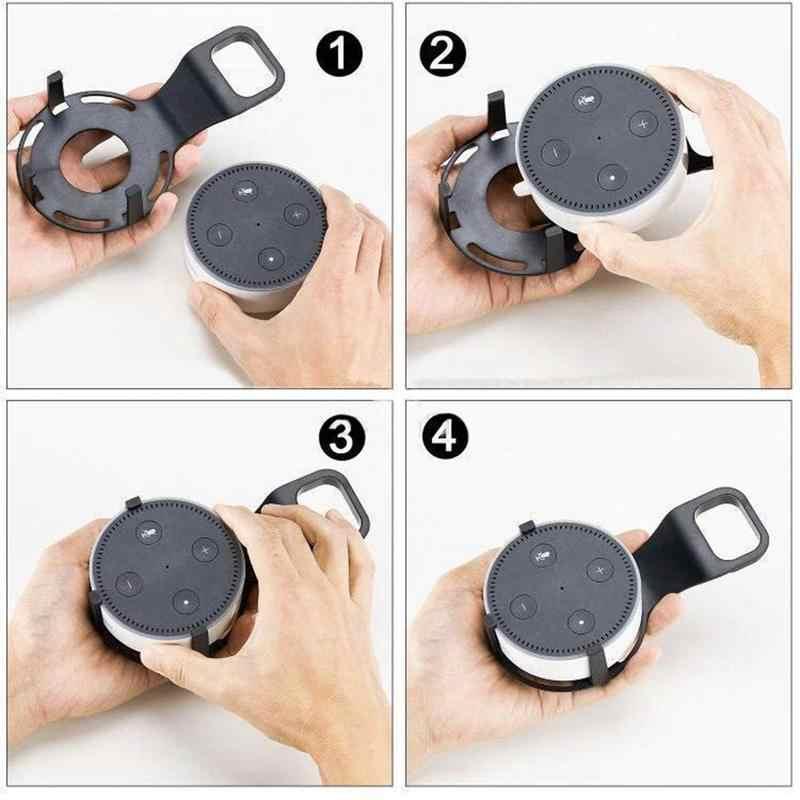 Uchwyt do montażu ściennego wieszak stojak i oszczędność miejsca Holder Case uchwyt montażowy stojak głośnikowy inteligentny towarzysz na ECHO DOT 2