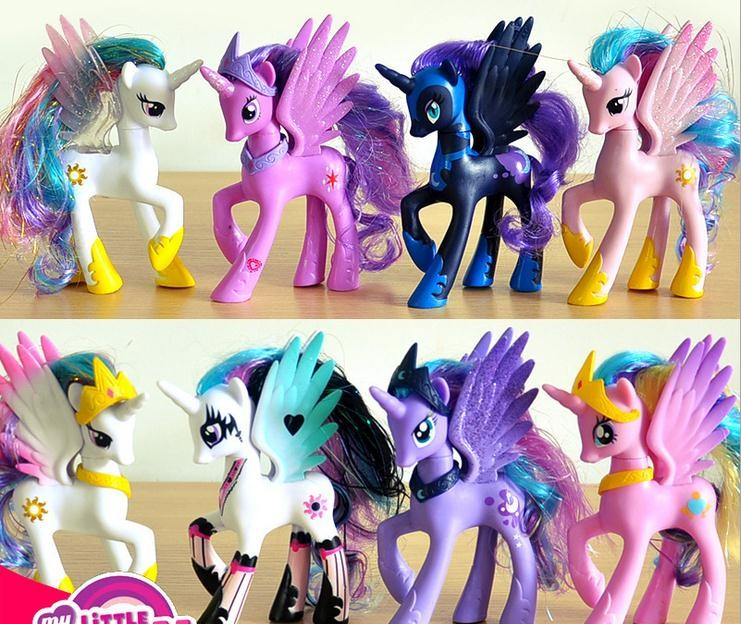 14cm Anime Toy Collection Princess Celestia Luna Nightmare Night little Cute Unicorn Rarity Horse Toys 16pcs set 4 6cm little pvc action toy figures horse princess celestia christmas gift for kids toys