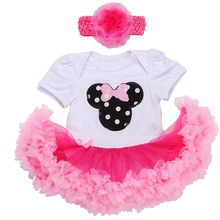 0 3 months first birthday girl tutu set newborn clothing baby girl dress formal infant clothes newborn baby girl clothes(China)